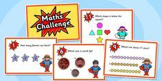 Make EYFS maths fun with these superhero problem-solving cards! Each card features a maths question to help your children relate maths to real-life scenarios. Eyfs Curriculum, Maths Eyfs, Eyfs Activities, Maths Puzzles, Numeracy, Challenge Cards, Math Challenge, Math For Kids, Fun Math