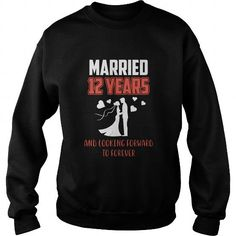 Best T-Shirt For Husband Wife. 12th Wedding Anniversary Gift.