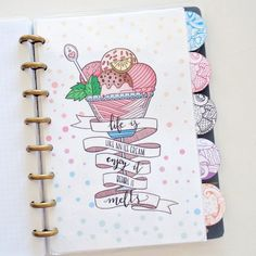 This month's edition of Boho Berry Guests featured the talented Nicole Lara and her discbound Bullet Journal. #bulletjournal #bujo #monthly