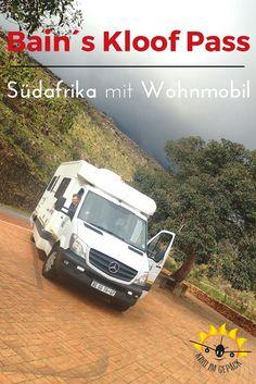 Südafrikas beeindruckenster Pass mit dem Wohnmobil. Wir sind ihn gefahren. Felsvorsprüngen und eine schmale Straße - deshalb ist er für große Fahrzeuge gesperrt.