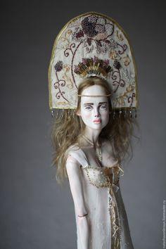 Купить Зимнее Солнце - золотой, бжд, шарнирная кукла, bjd, кукла, снегурочка, подарок