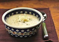 Roasted Cauliflower and Potato Soup with Cheese