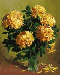 Chrysanthem Painting By Numbers No Frame Picture Wall Art Home Decor for Living Room Painting on Canvas of Flower GX9379 40*50cm * Read more at the image link. #HomeDecor