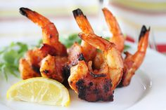BBQ Bacon-Wrapped Shrimp by cookandbemerry #Shrimp #Bacon #BBQ