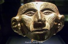 Masque indien en or - El Dorado Bogota Ancient Aliens, Ancient Art, Ancient History, Totems, Colombian Gold, Inca Empire, Art Antique, African Masks, Maya