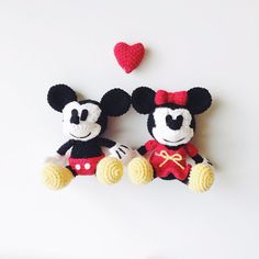 Mickey & Minnie Mouse Amigurumi Crochet Pattern door MintyHandmade