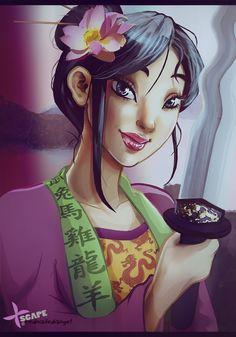 Disney Mulan REDO by ~Rednailedangel on deviantART