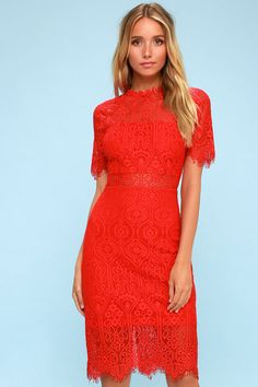 41aa7914784 The Remarkable Red Lace Dress is the perfect frock for any occasion!