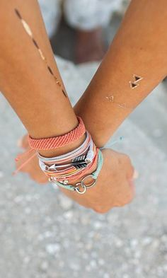 Festival Fashion - Flash Tats and Pura Vida Bracelets