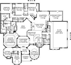 Coffee Table Design, Dream House Plans, House Floor Plans, Plan Sketch, Mediterranean House Plans, Mountain House Plans, Floor Plan Layout, Sims House, Story House