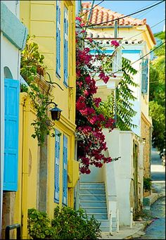 Aigina- Blues Traveler, Greece Islands, Paros, Architecture, Beautiful Places, To Go, The Incredibles, Street, World