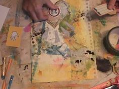 Watch the Process - POT Week 28 Journal Page by Roben-Marie = all her videos are great to watch!!!
