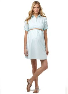 The Chloe shirtdress is polished perfection. Rosie Pope Maternity