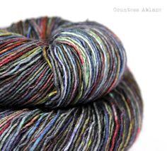 Merino singles yarn fingering weight hand by CountessAblaze