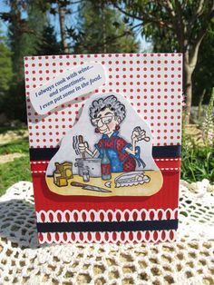 Edna cooking with wine Card by LeCardShoppe on Etsy,