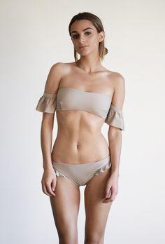 The Top Swimsuit Trends of Summer2016   Off the Shoulder Ruffle Sleeve Bikini   Midsommar Swim