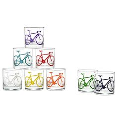 Look what I found at UncommonGoods: Bicycle Glasses - Set of 8 for $75 #uncommongoods