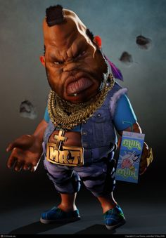 Mr T #Caricature #FunnyFaces                                                                                                                                                     More