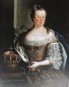 Mariana Victoria, Queen Consort of Portugal, Princess of Spain; by Miguel Antonio do Amaral, c. 1760, in the National Palace of Queluz, Portugal. Her father was Philip V, King of Spain. She was married to Joseph I, King of Portugal.