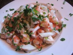 A perfect dish for the summer, this ceviche is packed with chunky seafood and has a great lemon flavor.