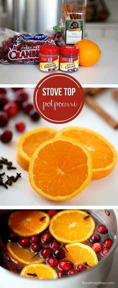 Christmas stove top potpourri on iheartnaptime.com ...makes your home smell like Christmas!
