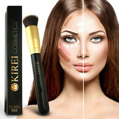 Amazon.com : Best Foundation Brush - Flat Top Kabuki Brush for Blending Cream, Liquid, Mineral Powder. Cruelty-free, Synthetic, Vegan Brush : Beauty