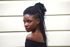 Undercut with Box braids on natural hair from AuthenticallyB.com