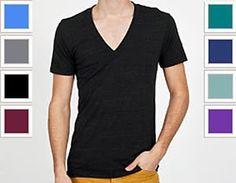 American Made Apparel Tri-Blend Short Sleeve Deep V-Neck T-Shirt - Athletic Grey TR456 M $26.56