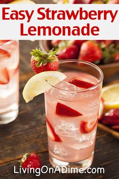 ... Lemonade Punch, Sparkling Strawberry Lemonade and Strawberry Lemonade