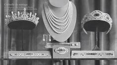 A quick return to the Chaumet diamond and sapphire tiara made by Chaumet for Alicia, Duchess of Calabria, 1936, and also a diamond and pearl tiara, possibly part of the weddin gifts