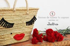 DIY rafia bag Mummy and Annie DIY: 5 formas de tunear un capazo: FIELTRO