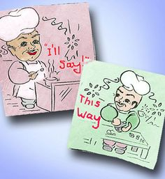 1950s Uncut Aunt Martha's Cute Chef Kitchen Tea Towel Embroidery Transfer  | eBay