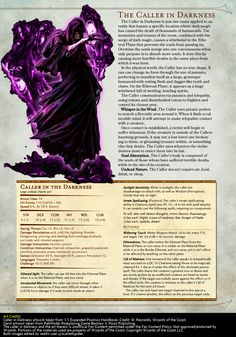 Post with 79 votes and 7794 views. Tagged with dnd, edition dnd, dndhomebrew, eberron; For fans of Eberron, homebrew Kalashtar rules for DnD Dnd Dragons, Dungeons And Dragons 5e, Dungeons And Dragons Characters, Dungeons And Dragons Homebrew, Dnd Characters, Monster Characters, Fantasy Monster, Monster Art, Fantasy Creatures