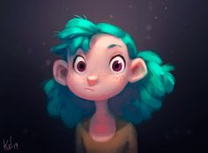Portrait of Turquoise Haired Girl on Behance ★ || CHARACTER DESIGN REFERENCES (www.facebook.com/CharacterDesignReferences & pinterest.com/characterdesigh) • Love Character Design? Join the Character Design Challenge (link→ www.facebook.com/groups/CharacterDesignChallenge) Share your unique vision of a theme every month, promote your art and make new friends in a community of over 20.000 artists! || ★