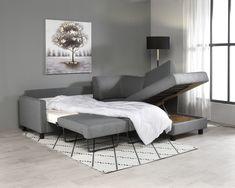 Kotimainen Aina-vuodekulmasohva, jossa on kätevä säilytyslaatikko vuodevaatteille. #sohva #vuodesohva #kulmasohva #vuodekulmasohva #olohuone #vierashuone #säilytyslaatikko #finsoffat #sofa #sofabed #guestroom Bed, Table, Furniture, Home Decor, Decoration Home, Stream Bed, Room Decor, Tables, Home Furnishings