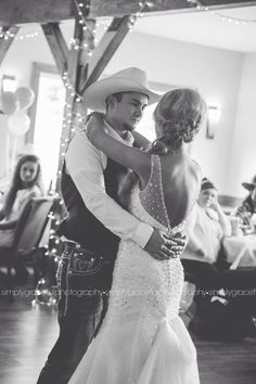 Country First Dance Wedding Photo
