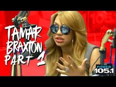 Tamar Braxton and Vincent Herbert at The Breakfast Club Power 105.1 Pt.1 | G.o.T.h.A.z.E.- The South's #1 Hip Hop Urban Media Source