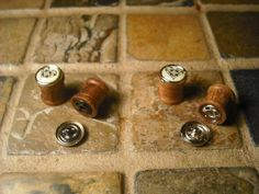 Handcrafted Wooden Plugs with Interchangeable Faces