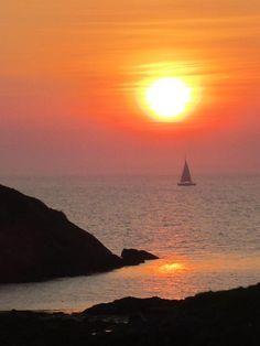 Monhegan Island Maine ... Sailing into the Sunset