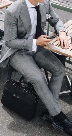 gym after long work day // mens fitness // mens fashion // suit // briefcase // urban guy //