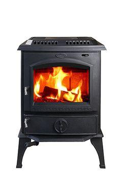 Hiflame 1 800 Square Feet 63 000btu Cast Iron Wood Burning Stove Hf717u Black Paint