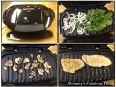 Mushroom & Spinach Smothered Chicken | George Foreman Show Us Your Grill Skill - Mommy's Fabulous Finds