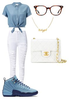 """67"" by manii13k on Polyvore featuring Miss Selfridge, Chanel and Ray-Ban"