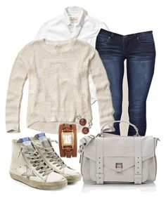 """""""Casual"""" by alice-fortuna on Polyvore featuring Hollister Co., YMI, Proenza Schouler, Golden Goose and La Mer"""
