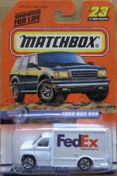 Matchbox 1999-23/100 Series 5 FedEx Speedy Delivery Ford Box Van 1:64 Scale by Mattel. $24.99. MATCHBOX. 1:64 SCALE DIE CAST COLLECTOR CAR