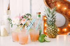 colorful cocktails - photo by Blush Wedding Photography http://ruffledblog.com/modern-tropical-wedding