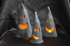 Ceramic ghosts, Halloween ghosts, Halloween decoration, spooky ghosts, tea light…