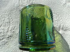 Lovely green depression glass canister or от WhiskeysWhims на Etsy