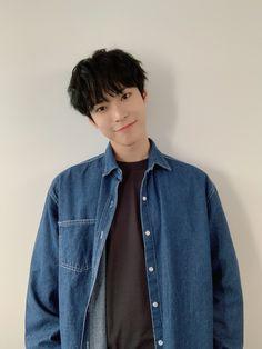 Nct 127, Denim Button Up, Button Up Shirts, Nct Doyoung, Kim Dong, Most Beautiful Man, Boyfriend Material, Taeyong, Jaehyun