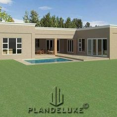 5 bedroom Single Story House Floor Plan | Home Designs | Plandeluxe House Plans For Sale, 3d House Plans, Garage House Plans, House Plans One Story, Ranch House Plans, Modern House Plans, 5 Bedroom House Plans, Two Story House Design, 3d Home Design